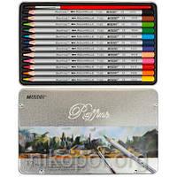 Акварельные карандаши Marco Raffine 7120-12TN, 12 цветов с кисточкой