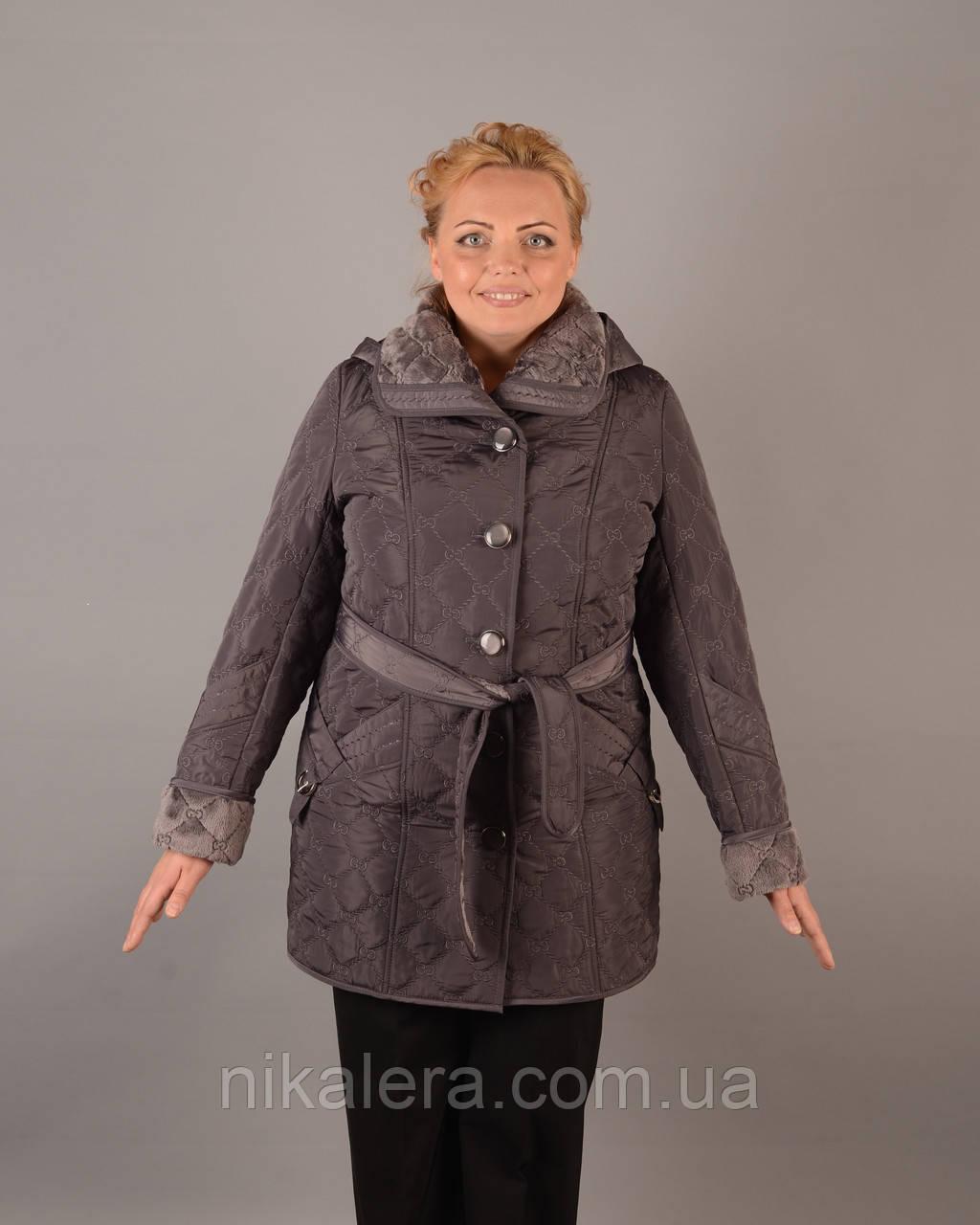 Куртка вельбо с поясом рр 50-56