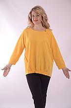 """Нарядная блуза в стиле Бохо бл 003-2 цвет """"Канарейка"""" ,молоко ,коралл,темно синий."""