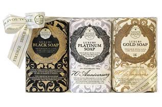 Nesti Dante Luxury soap - Gold, Black & Platinum.Роскошное Золотое, Черное и Платиновое мыло