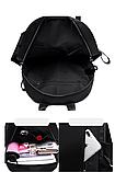 Рюкзак чорний нейлон з ланцюгами, фото 8