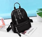 Рюкзак нейлон черный с цепями, фото 10