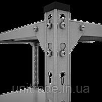 180х90х40, 180 кг на полку 5 полок из стали КБУ-1 Комби усиленный полочный на болтах архивный оцинкованный, фото 3