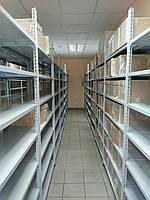215х100х40, 180 кг на полку 5 полок из стали КБУ-13 Комби усиленный полочный на болтах архивный оцинкованный, фото 5