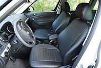 Чехлы на сиденья Рено Трафик (Renault Trafic) 1+2 (универсальные, кожзам, с отдельным подголовником)