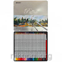 Акварельные карандаши Marco Raffine 7120-24TN, 24 цвета с кисточкой