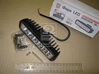 Фара LED прямоугольная 18W, 6 ламп, 159,8*45,2,2мм, узкий луч