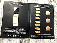Палетка пробников тонального крема GIVENCHY Matissime Velvet, фото 1