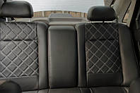 Чехлы на сиденья Рено Меган 2 (Renault Megane 2) (модельные, 3D-ромб, отдельный подголовник)