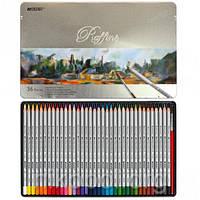 Акварельные карандаши Marco Raffine 7120-36TN, 36 цветов с кисточкой