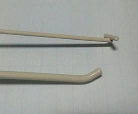 Крючок торговый одинарный на сетку с ценникодержателем 100мм Бежевый, фото 2