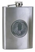 Фляга с медальоном 7, 8, 9 oz (180, 240, 260 мл)