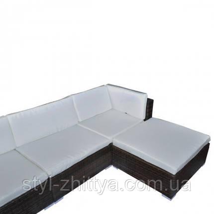 Модульні садові мебелі з штучного ротангу з дашком, фото 2