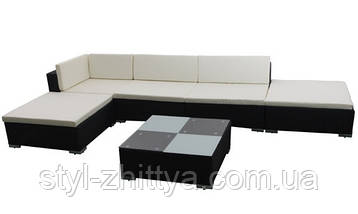 Модульний комплект садових меблів. Кутовий диван, фото 2