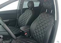 Чехлы на сиденья Форд Фокус 3 (Ford Focus 3) (модельные, 3D-ромб, отдельный подголовник)
