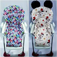 Двухсторонний чехол на стульчик для кормления Capella ABC design Joy Baby и подобные, фото 1