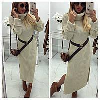 Женское длинное вязаное платье , фото 1