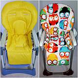 Двухсторонний чехол на стульчик для кормления Capella ABC design Joy Baby и подобные, фото 2