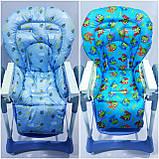Двухсторонний чехол на стульчик для кормления Capella ABC design Joy Baby и подобные, фото 3