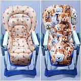 Двухсторонний чехол на стульчик для кормления Capella ABC design Joy Baby и подобные, фото 6