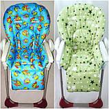 Двухсторонний чехол на стульчик для кормления Capella ABC design Joy Baby и подобные, фото 9