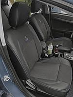 Чехлы на сиденья Ниссан Ноут (Nissan Note) (модельные, экокожа+автоткань, отдельный подголовник)