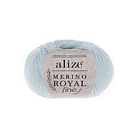 Пряжа Alize Merino Royal Fine оттенок согласно карте цветов светло-синий 480