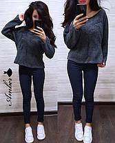 """Модный женский вязанный свитер """"Oversize"""" , размер единый 42-46, фото 3"""