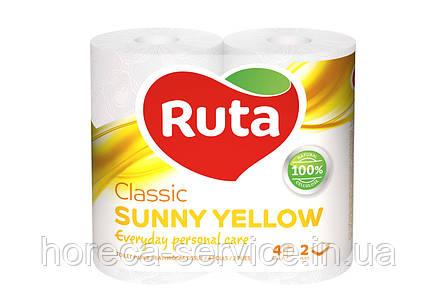 Туалетная бумага RUTA Classic sanny yellow , фото 2