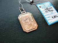 Золотая ладанка Божья Матерь с Младенцем 1.81 грамма ЗОЛОТО 585  пробы, фото 1