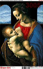 Схема для вышивки бисером 3005 Мадонна с младенцем (Мадонна з немовлям)