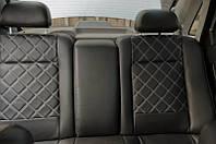 Чехлы на сиденья Мерседес Вито (Mercedes Vito) 1+1  (модельные, 3D-ромб, отдельный подголовник)