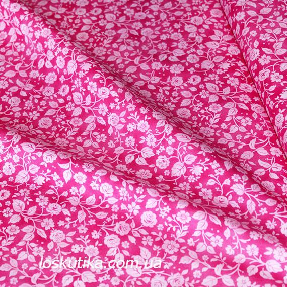 35008 Розочки. Ткань в мелкий цветочек, для шитья, аппликаций, текстильных игрушек и для пэчворка.