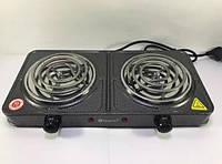 Электроплита настольная Domotec MS-5802 на 2 конфорки, фото 1