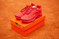 Мужские красные кроссовки в стиле Nike Air Max Tn Plus, (Реплика ААА), фото 1