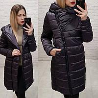 Exclusive. Модная куртка парка, арт М522, цвет баклажан
