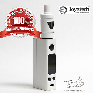 Электронная сигарета Joyetech eVic VTC Mini + атомайзер Tron S | Вейп Starter Kit Белый (Оригинал)
