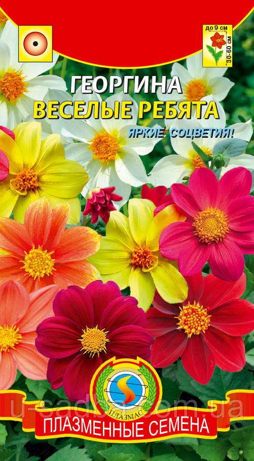 Семена цветов  Георгина Весёлые ребята 0,15 г смесь (Плазменные семена)