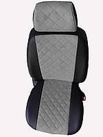 Чехлы на сиденья Ауди 80 Б4 (Audi 80 B4) (универсальные, экокожа+Алькантара, с отдельным подголовником)