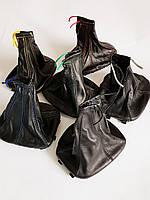 Чехол КПП универсальный с цветной строчкой, кожаный, фото 1