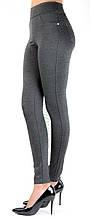 Стрейч-котон, жіночі/брюки жіночі класика, темно-сірий, (норма), р. 42-50