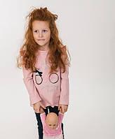 Детская кофта для девочки розовая