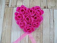 Набор подарочное мыло розы 9 бутонов ( подарок на 14 февраля )