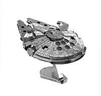 Металлический 3D конструктор Star Wars! Сокол тысячелетия (Звездные войны)! Космический корабль Хана Соло!