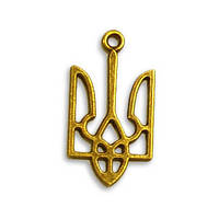 Подвеска металлическая 2.7 см ЗОЛОТОЙ ТРИЗУБ
