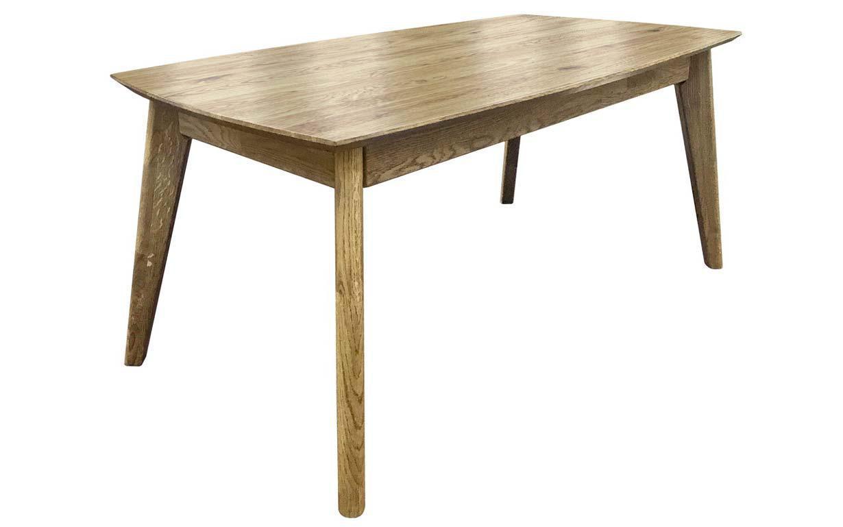 """Раскладной дубовый стол """"Нордик R"""" 80х120+50см"""