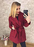 """Пальто женское кашемировое с поясом, размеры 42-48 (5цв) """"BONJOUR"""" купить оптом и в розницу в Одессе на 7км"""
