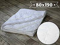 Наматрасник микрофибра 80х190 см. по 4-м углам