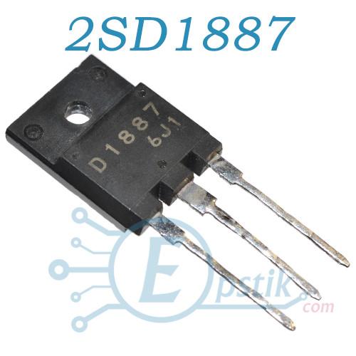2SD1887, транзистор биполярный NPN, 800В, 10А, TO3P