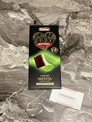 Черный шоколад Torras Zero 72 % какао с кусочками мяты (шоколад без сахара и без глютена)
